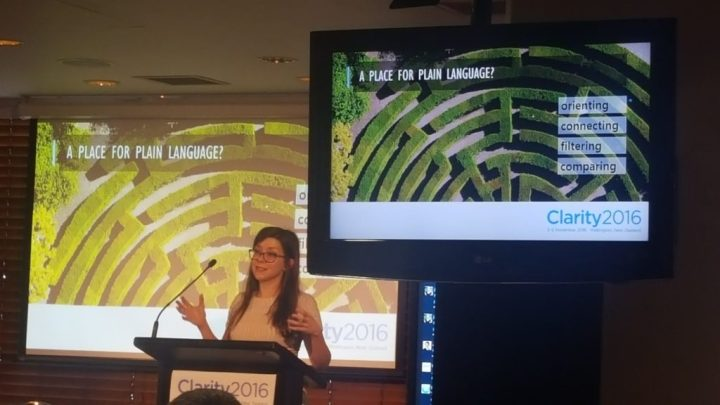 Caitlin Whiteman explains consumer policy trends and the impacts on plain language (Credit: Verity White)