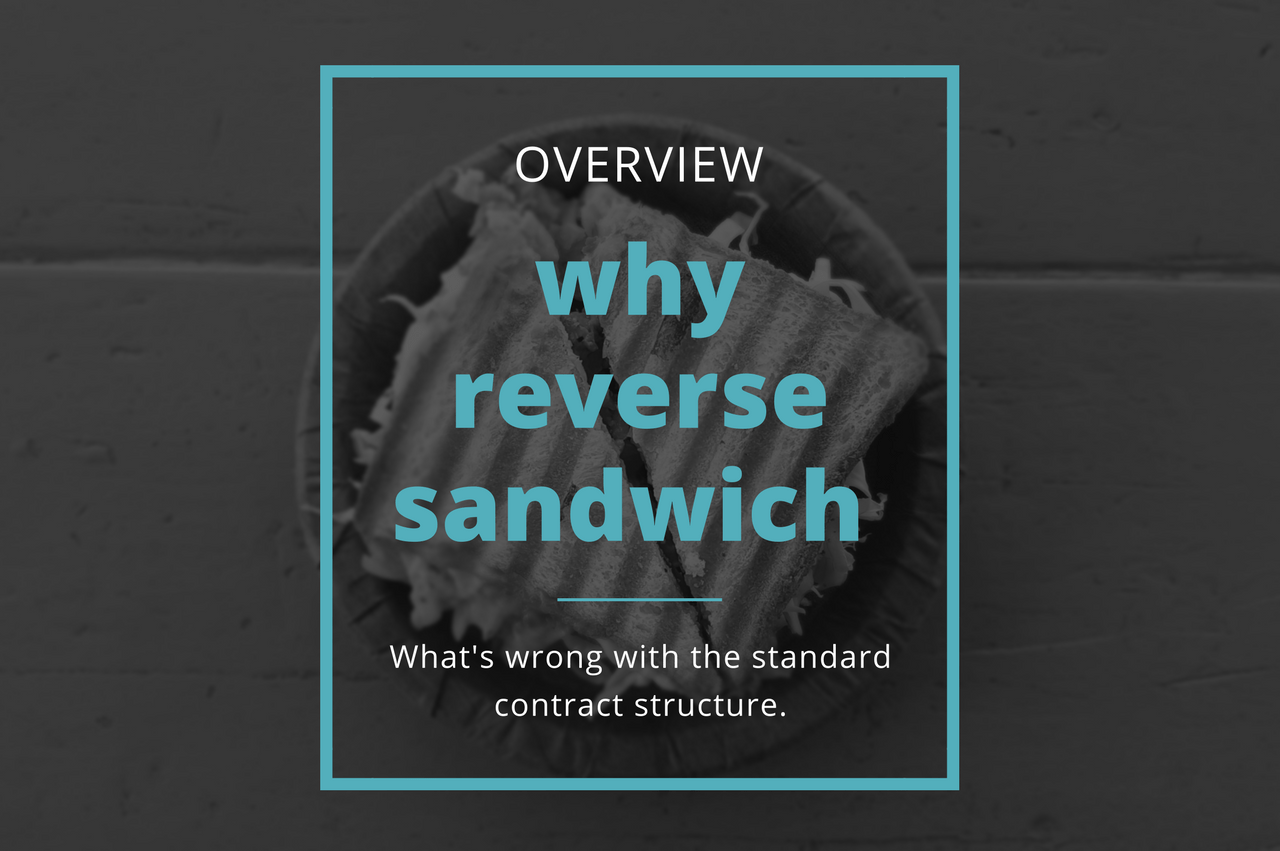 Why do we need Reverse Sandwich Contracts - - Secrets of Productive Contracts by Verity White