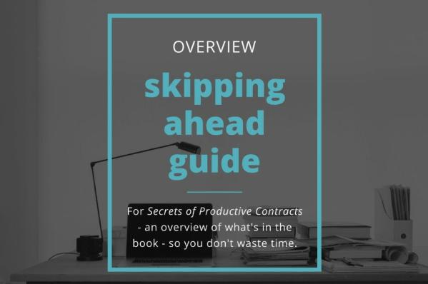 skipping ahead guide - Secrets of productive contracts - Checklist Legal