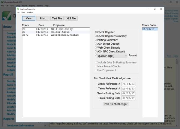 Checkmark Payroll Software