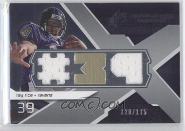 2008 SPx Rookie Materials Jersey Number Dual 175 #RMRR - Ray Rice/175 - Courtesy of CheckOutMyCards.com