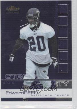 2002 Finest #109 - Ed Reed RC (Rookie Card) - Courtesy of CheckOutMyCards.com