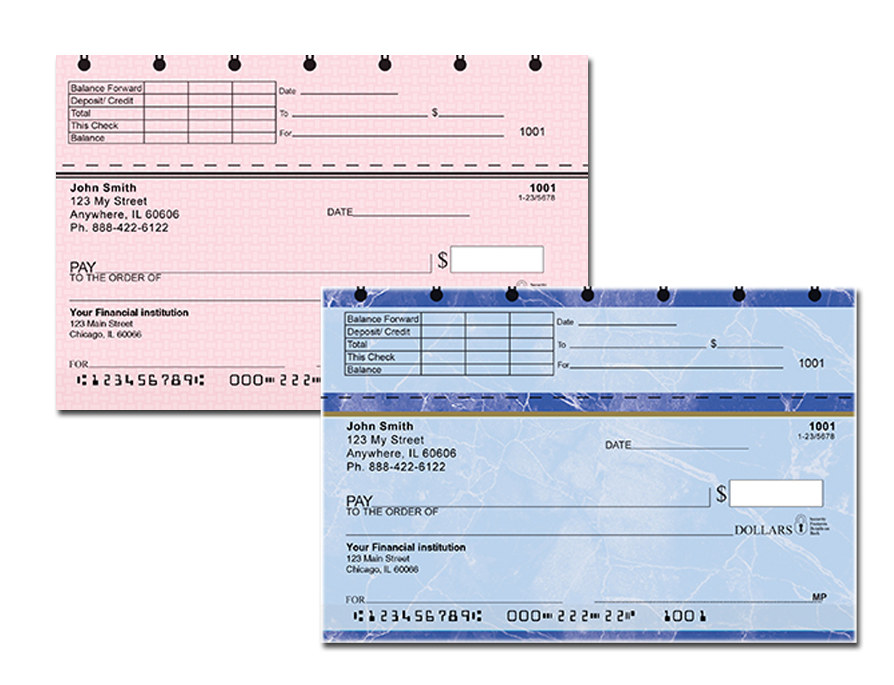 hight resolution of top end stub personal checks