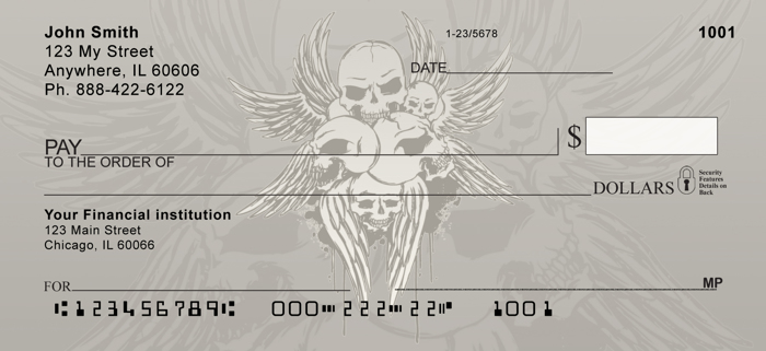 Stylish Skulls Personal Checks