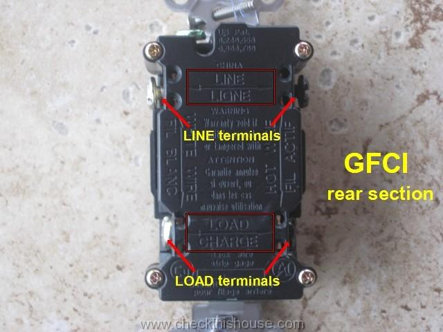 Wire Gfci Receptacle Wiring Diagram Also A Line Load Gfci Outlet