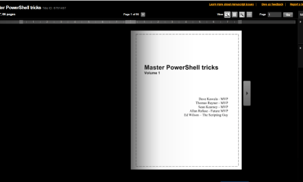 Master PowerShell Tricks Volume 1 – Kindle Version is now Available