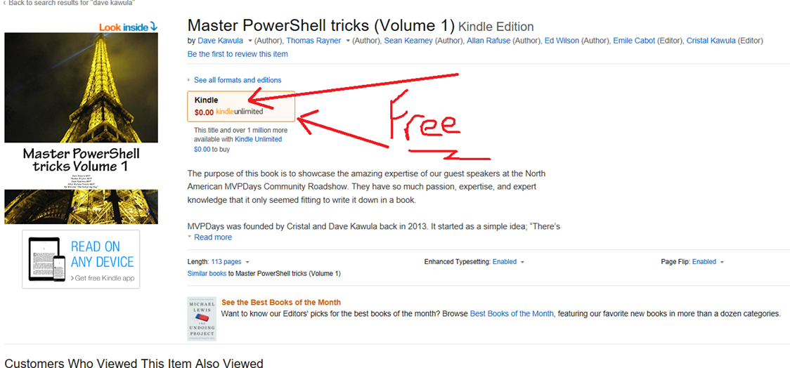 Free E-Book for the next 48 hours – Master PowerShell Ticks