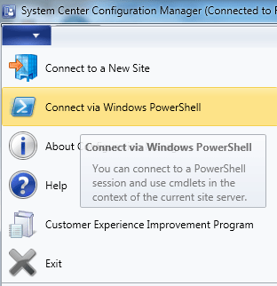 Opening/Upgrading SCCM 2012 R2 PowerShell