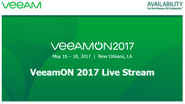 #VeeamON 2017 is available via @livestream #mvphour #veeam