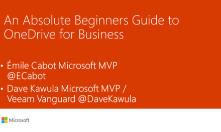 CMUG – Absolute Beginners Guide to OneDrive for Business #MVPHour #OneDrive