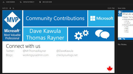 @MVPDays V-Conf – The gift of Community by @MRThomasRayner and @DaveKawula