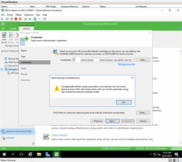 VEEAM TROUBLESHOOTING TIPS – ADD WINDOWS SERVER 2016 CLUSTER TO VEEAM BACKUP AND REPLICATION #VEEAM #WINDOWSSERVER #MVPHOUR