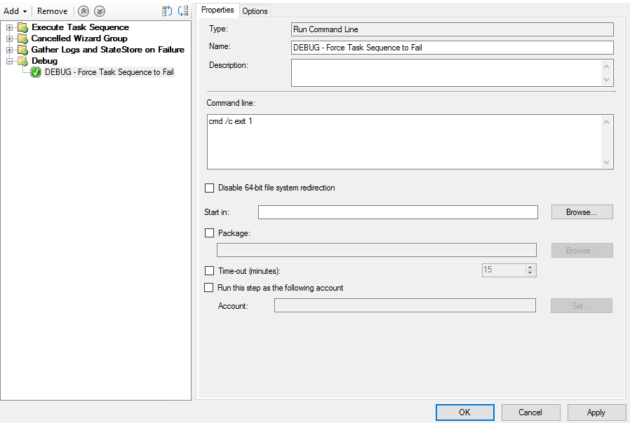 How to Force a #SCCM Task Sequence to Fail