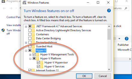 Hyper-V in Windows 10: Initial Set-Up