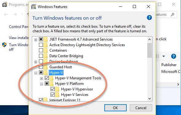 Hyper-V in Windows 10: Initial Set-Up