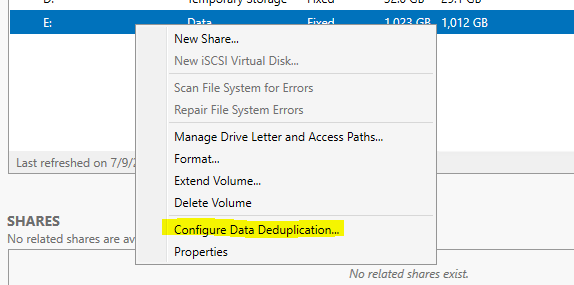 Enable Deduplication on Windows Server 2019 on #ReFS | CheckYourLogs Net