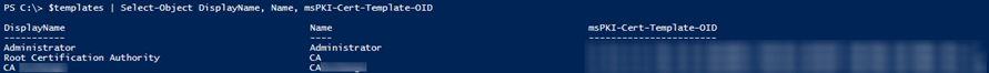 #PowerShell – Reporting on Certificate Templates via #ADSI