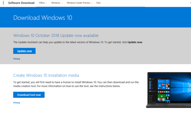 Finding the Windows 10 1809 Media and Upgrading – #Windows10 #Windows1809