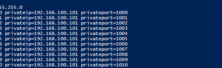 Script for port range forwarding in Azure #Azure #NAT #Microsoft #MVPhours