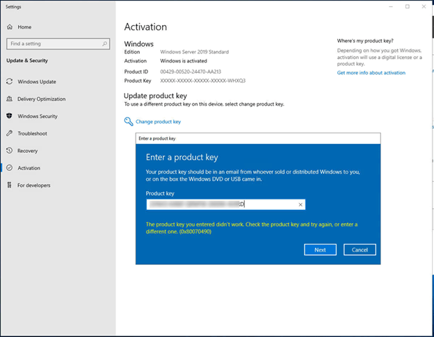 How to Activate Windows Server 2019 Evaluation Edition with VLSC MAK