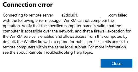 The Case of unable to connect to Storage Spaces Direct in Windows Admin Center because of WinRM errors – #StorageSpacesDirect #HyperV