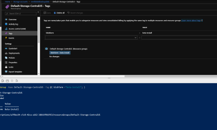Why, How and Where to use Azure Tags