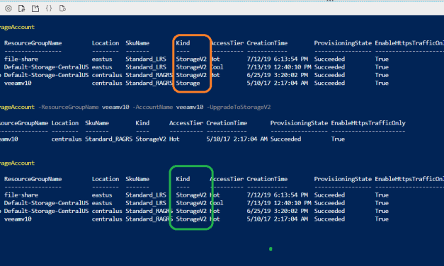 PowerShell your way to upgrading storage accounts