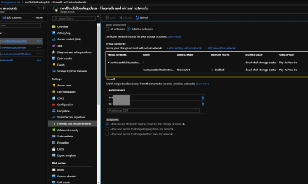 How to: Set network access for storage accounts in Azure