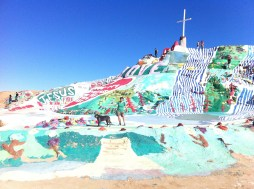"Maria, ""matching"" Salvation Mountain"