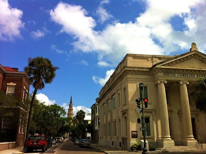 Columns in Downtown Charleston SC