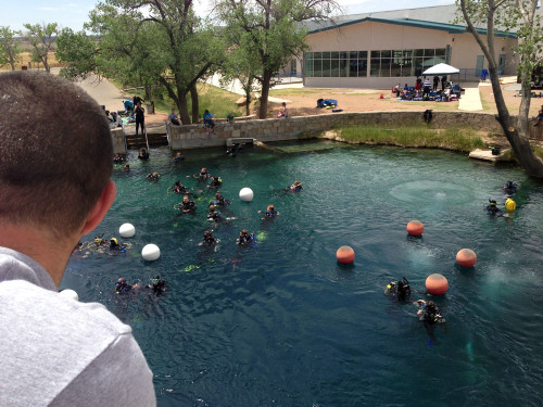 The Blue Hole in New Mexico.