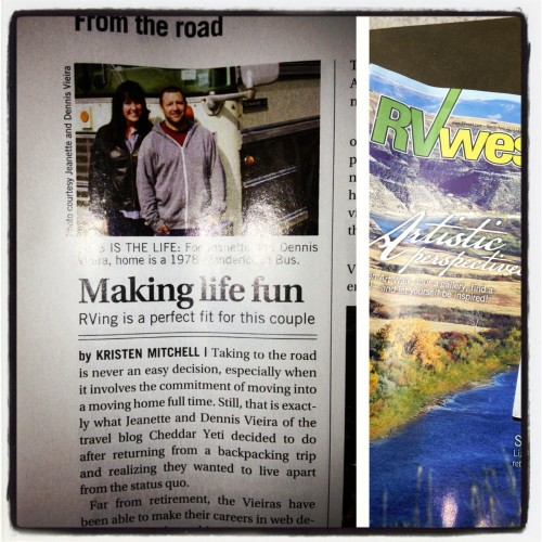 The Printed RV West Magazine article.