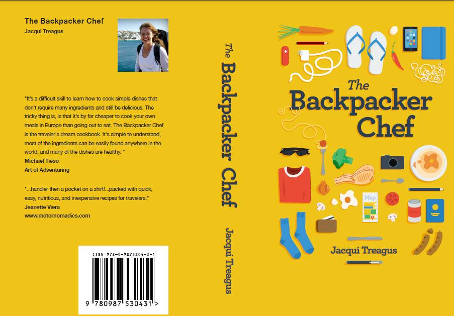 Cook Book Back Cover : Our travel cooking interview the backpacker chef