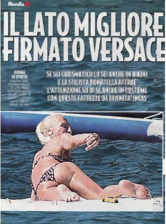 Donatella Versace in bikini a Portofino Le foto