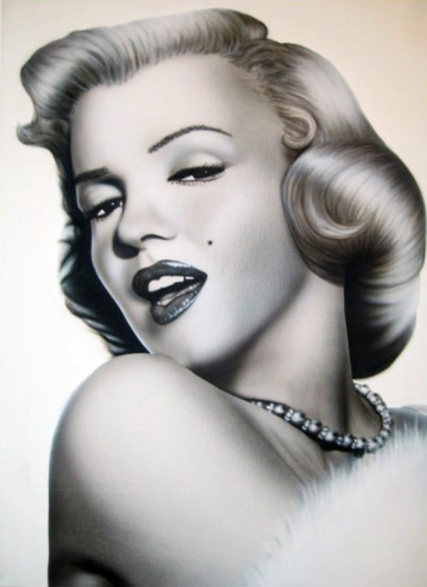 Marilyn Monroe Airbrush Art