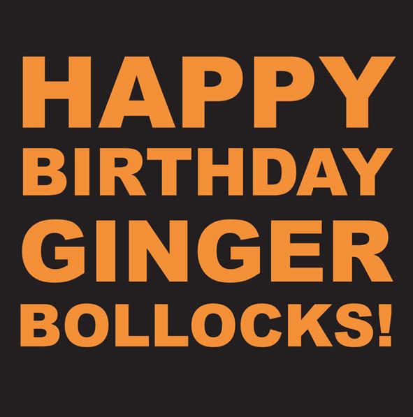 Ginger Bollocks Cheeky Pink Cards