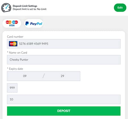 Depositing With Mastercard
