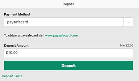 Deposit With Paysafecard