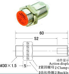 ip65 m30 inductive proximity switch with detection distance 10mm ac 2 wire nc [ 1346 x 776 Pixel ]
