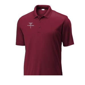 Mens Disc Golf Tournament Polo Maroon, CHEENGZ, Disc Golf Apparel