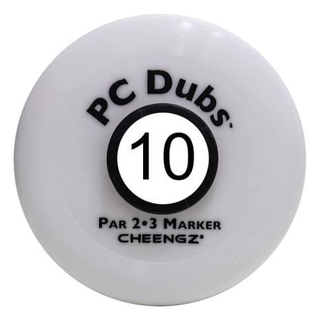PC Dubs Par 2 / Par 3 Course Markers, Disc Golf Course Markers, Frisbee Golf Course Markers