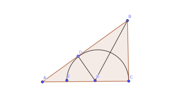 Radius of a semi circle