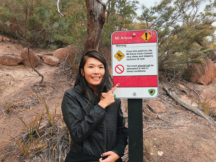 One of the many warning signs we saw on the way up of Mount Amos