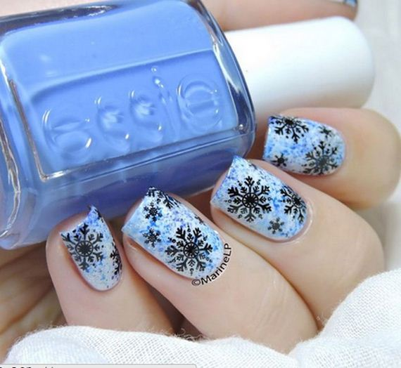 Creative Winter Inspired Nail Designs