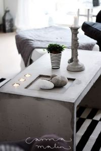 Cool DIY Concrete Coffee and Side Tables