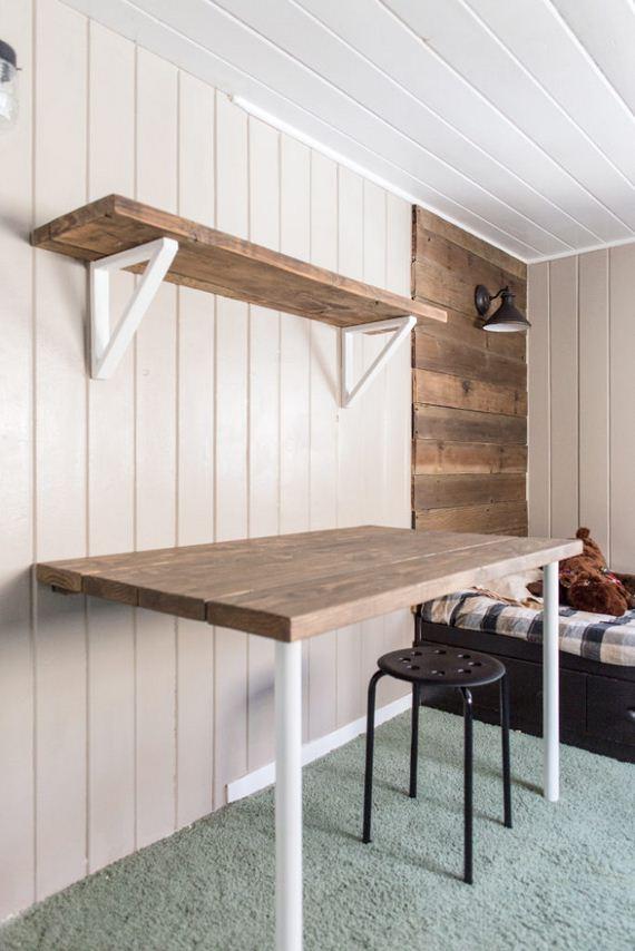 DIY Wall Mounted Desks