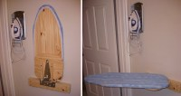DIY Wall Mounted Ironing Board