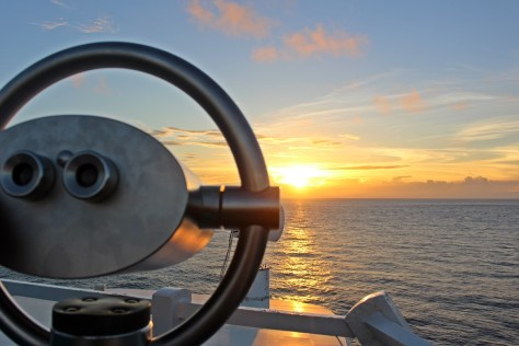 Malerischer Sonnenuntergang an Bord von AIDA Aura