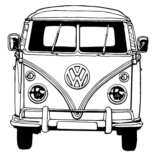 Free coloring pages of vw camper bus