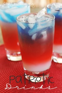 Layered Patriotic Drinks - Chef in Training
